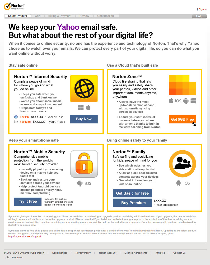 Yahoo! Mail Mockup