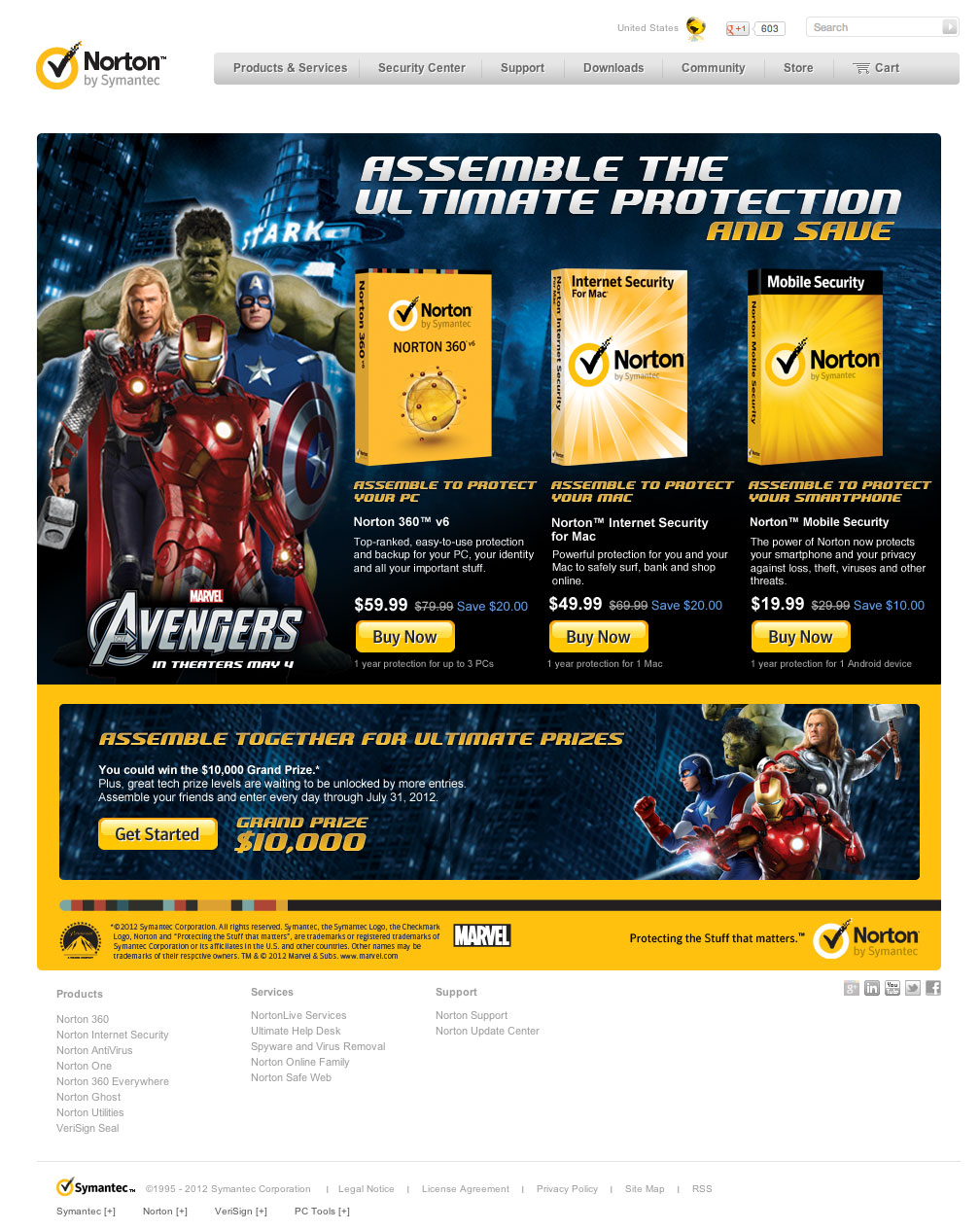 My Avengers landing page experience