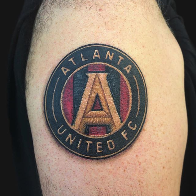 Atlanta United patch done yesterday. Had a blast doing this one! I'm always honored to get to tattoo my favorite teams logo on other fans. Thanks for checking it out and if you'd like to set something up, hit me up at the shop or shoot me an email at Shane@terminuscitytattoo.com . . . . . . #tattoos #tattoo #inkstagram #atlantatattoo #atltattoo #duluthtattoo #colortattoo #boldtattoos #neotraditionaltattoo #patchtattoo #atlutd #atlantaunited #fivestripes #mls #mlstattoo #kingsofthesouth #mlschamps