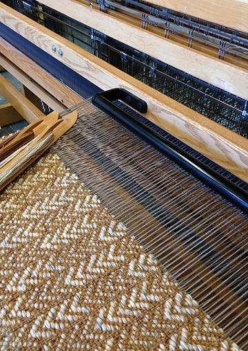 Pueblo design on the loom.