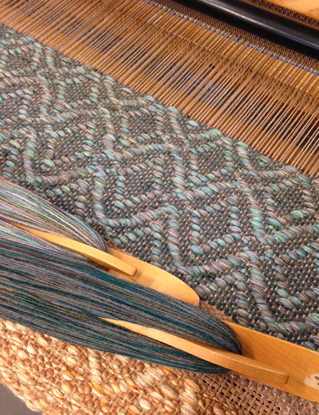 Adele Teal flatwoven rug