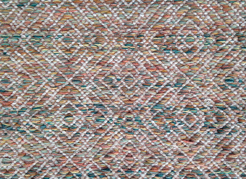 Creswell Gold Tropical flat weave rug