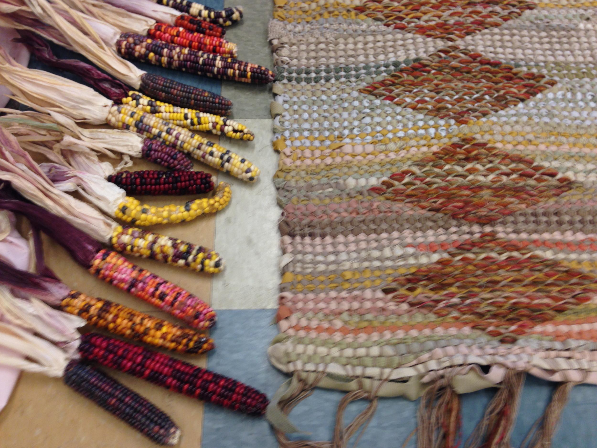 Corn varieties and Aurora's rug.