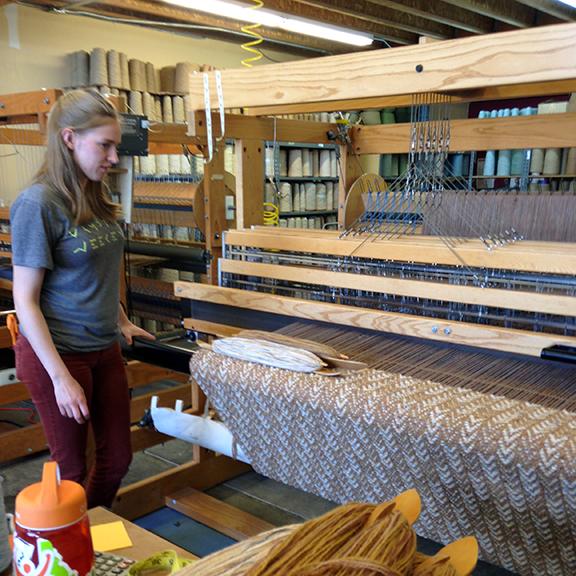 Kate at the Loom