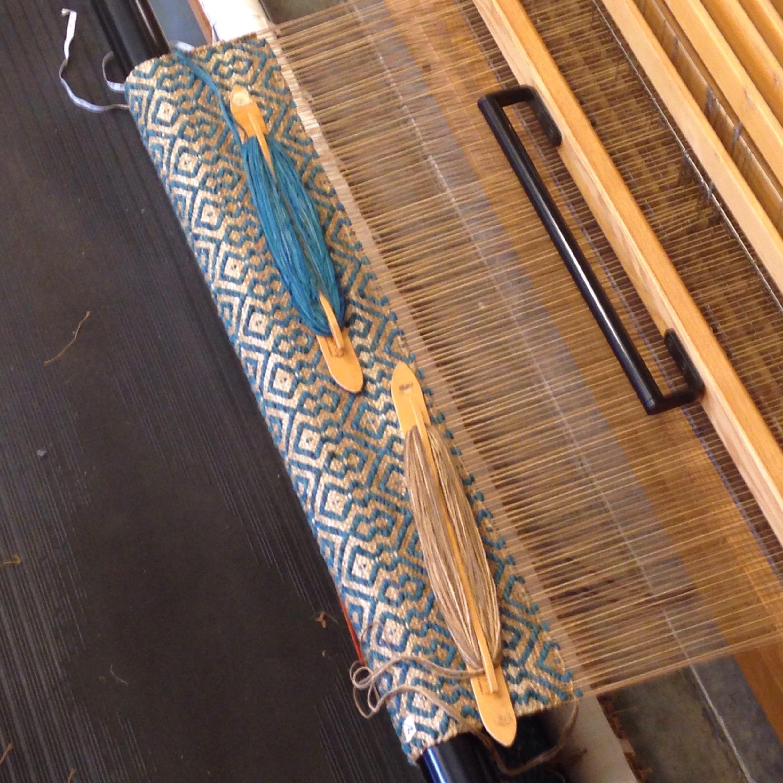 Custom color Turquoise handwoven rug