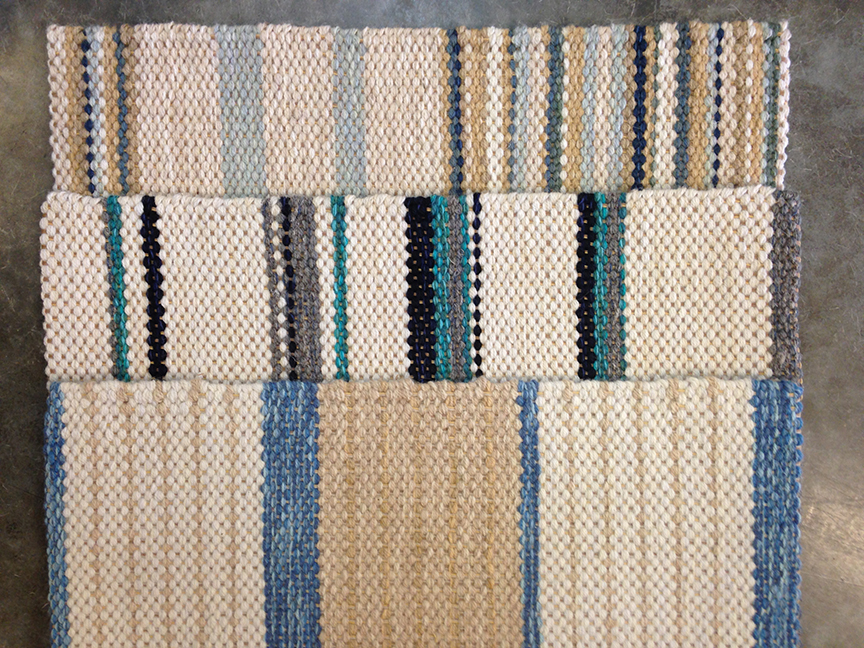 Striped Hand woven Rug