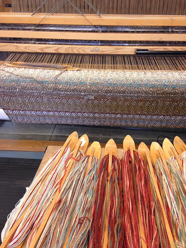 Creswell Rug on the loom