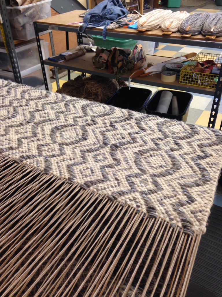Amphora on the loom. True North Textiles.