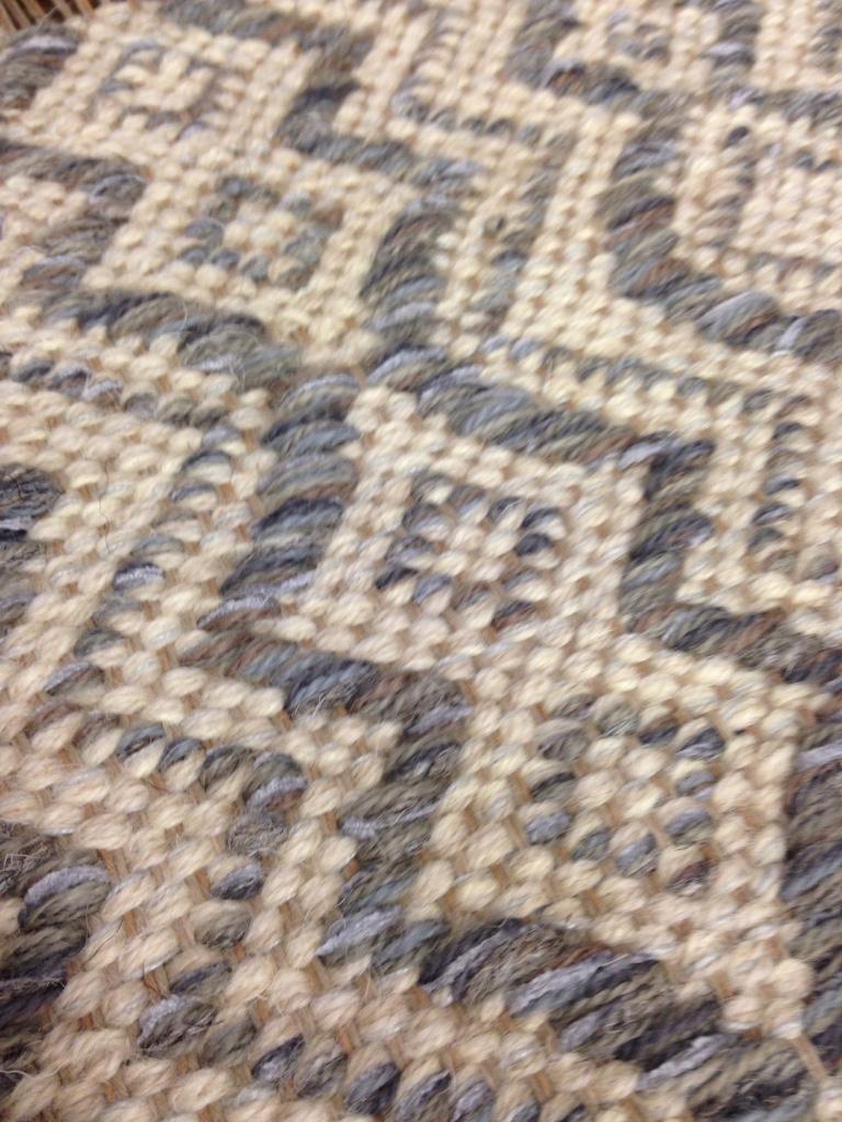 Closeup of Amphora Pewter. True North Textiles.