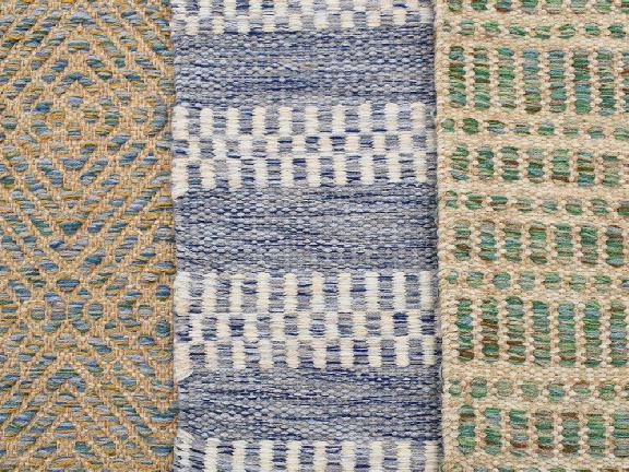 Labyrinth Bluebell, Stewart Ocean, Gibson Emerald.