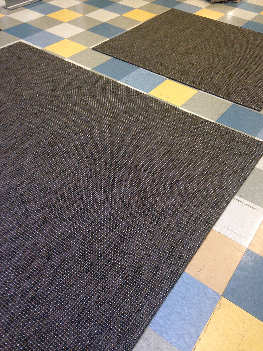 2 Custom rugs of our Blink Smokey Grey.
