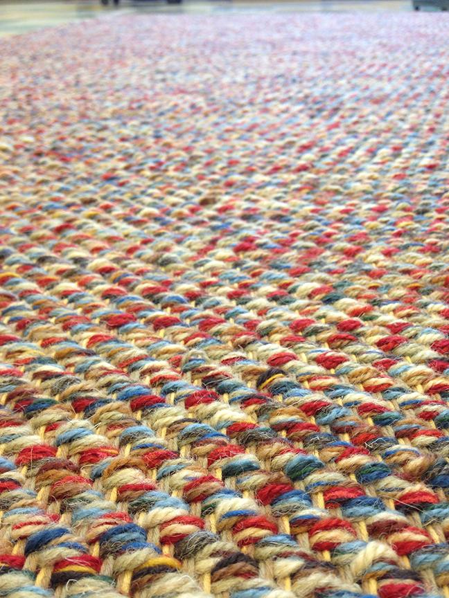 Custom Red & Blue Twill at True North Textiles.