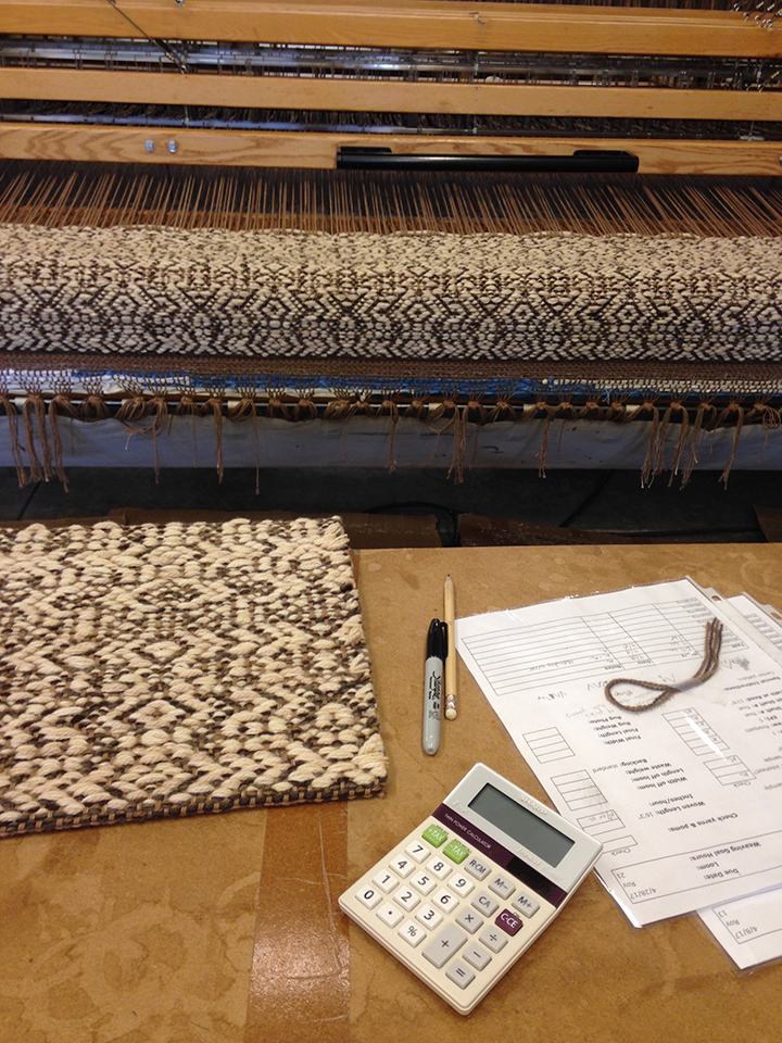 Zurich on the loom.