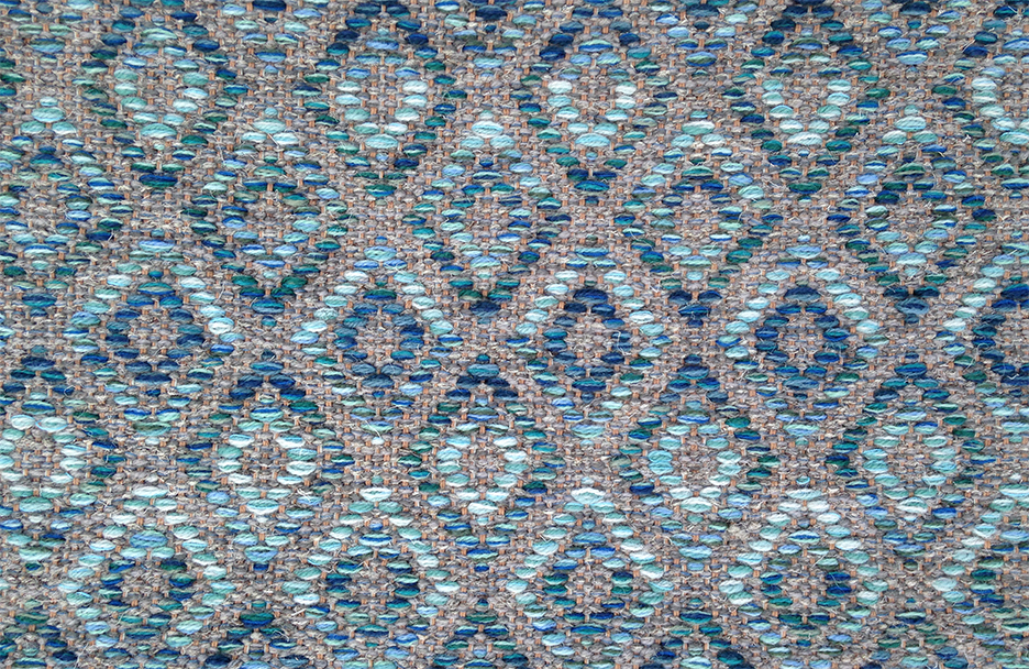 Duvall Blue Multi by True North Textiles.