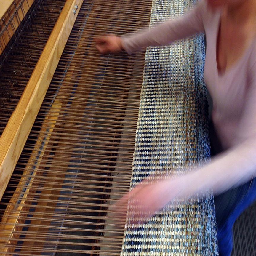 Michelle weaving Columns Ink