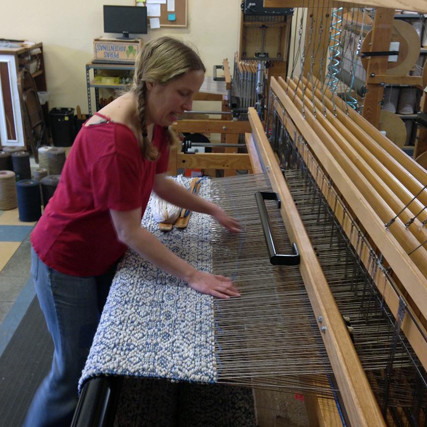 Aurora weaving at True North Texiles