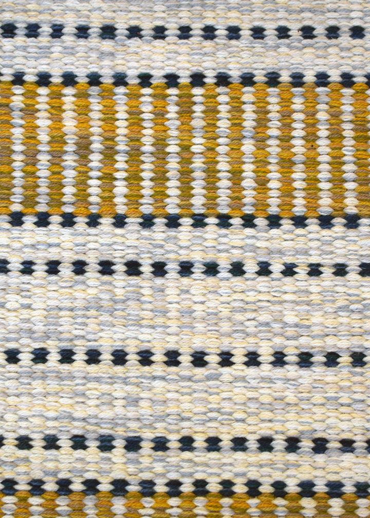 Close up of Dotted Line Rug