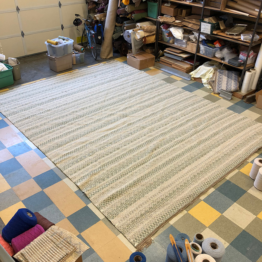 12' x 15' Barrington - off the loom and ready for finishing and backing.