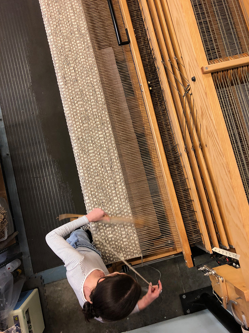 Meg weaving Gibson Taupe