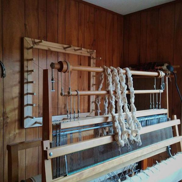 Meg's Leclerc loom. Image from Meg Lehinger