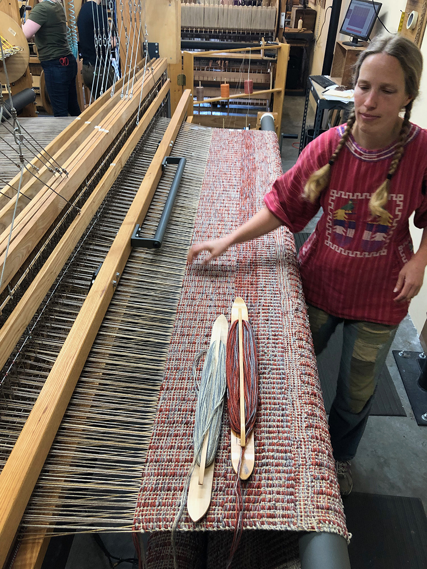 Aurora weaving.