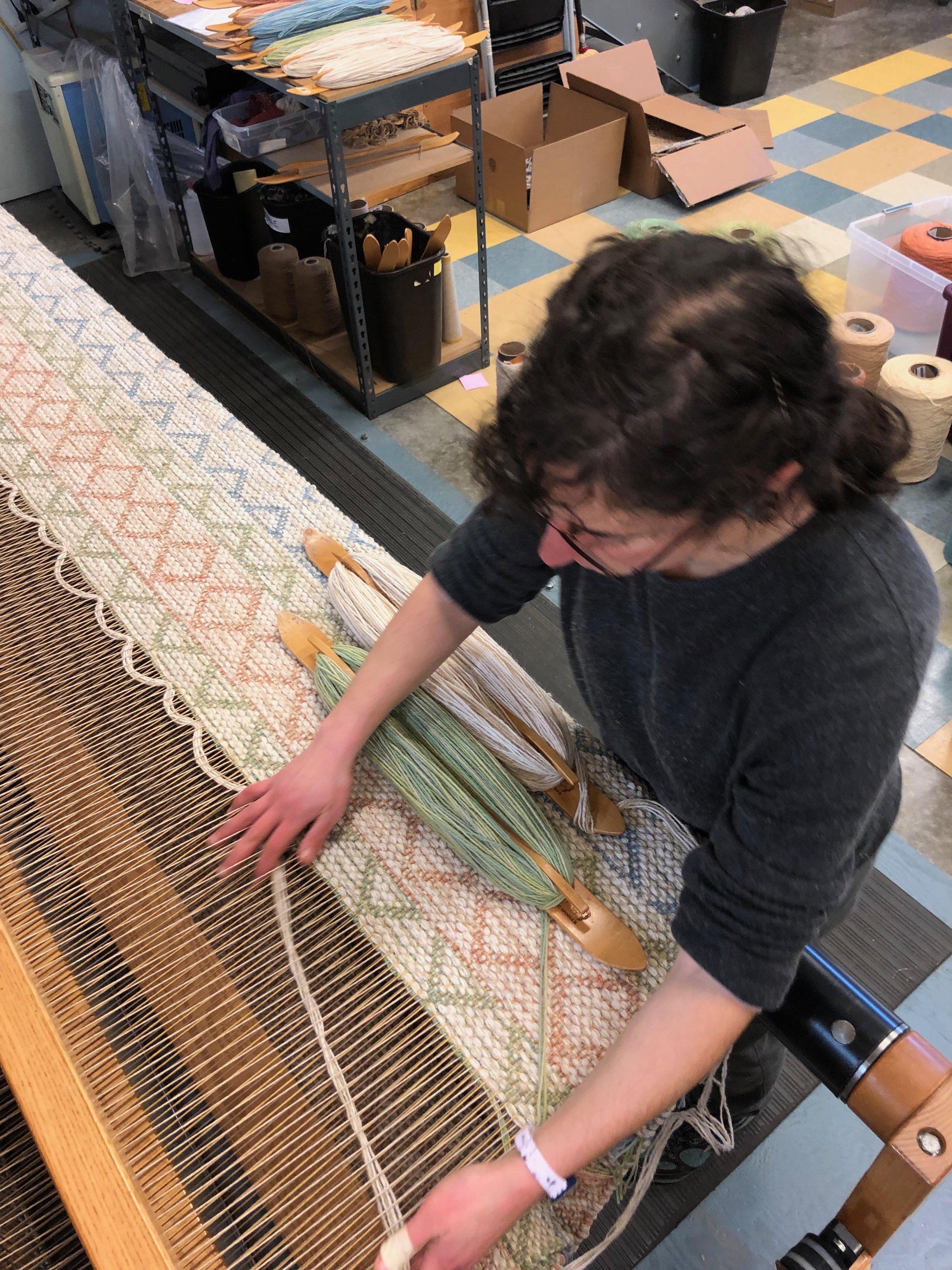 Michelle weaving