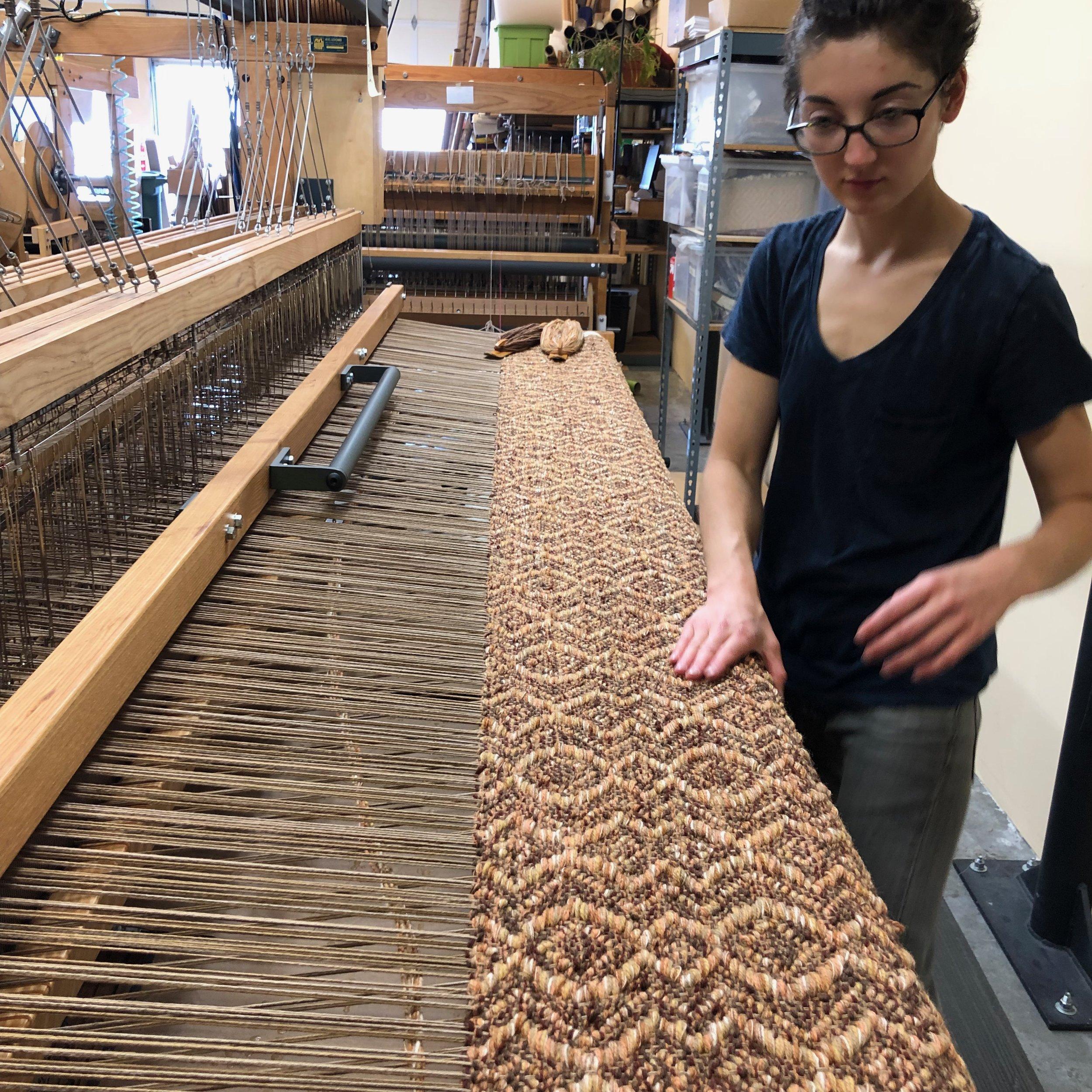 Brooke weaving