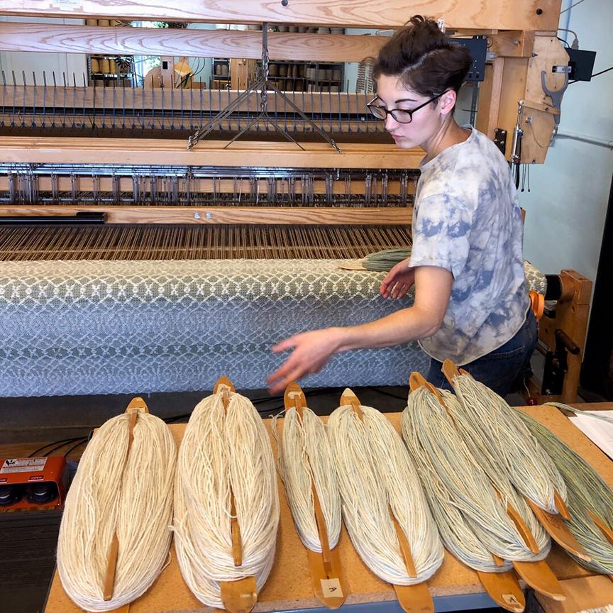 Weaving Barrington Rug.