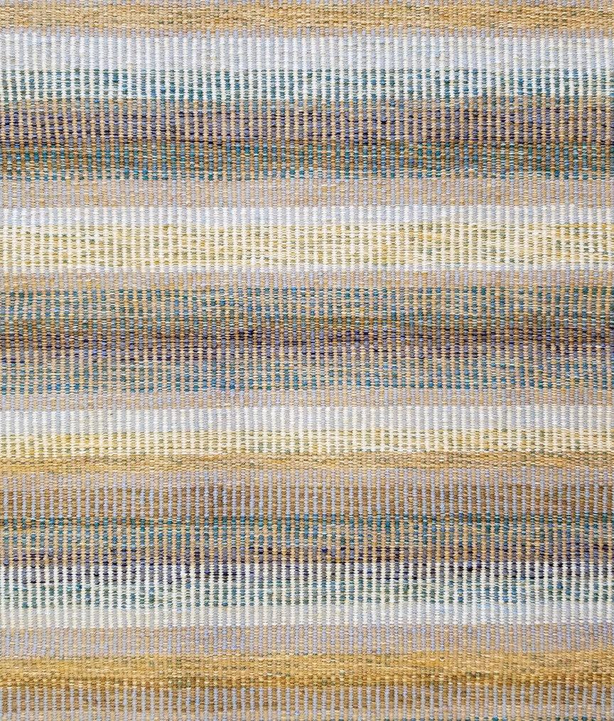 Flatwoven rug, Thin Columns Beach, at True North Textiles.