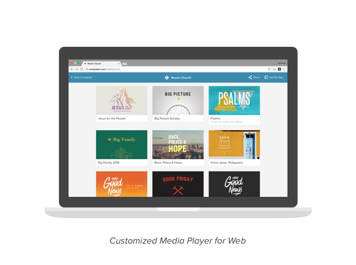 Customized Media Player for the Web