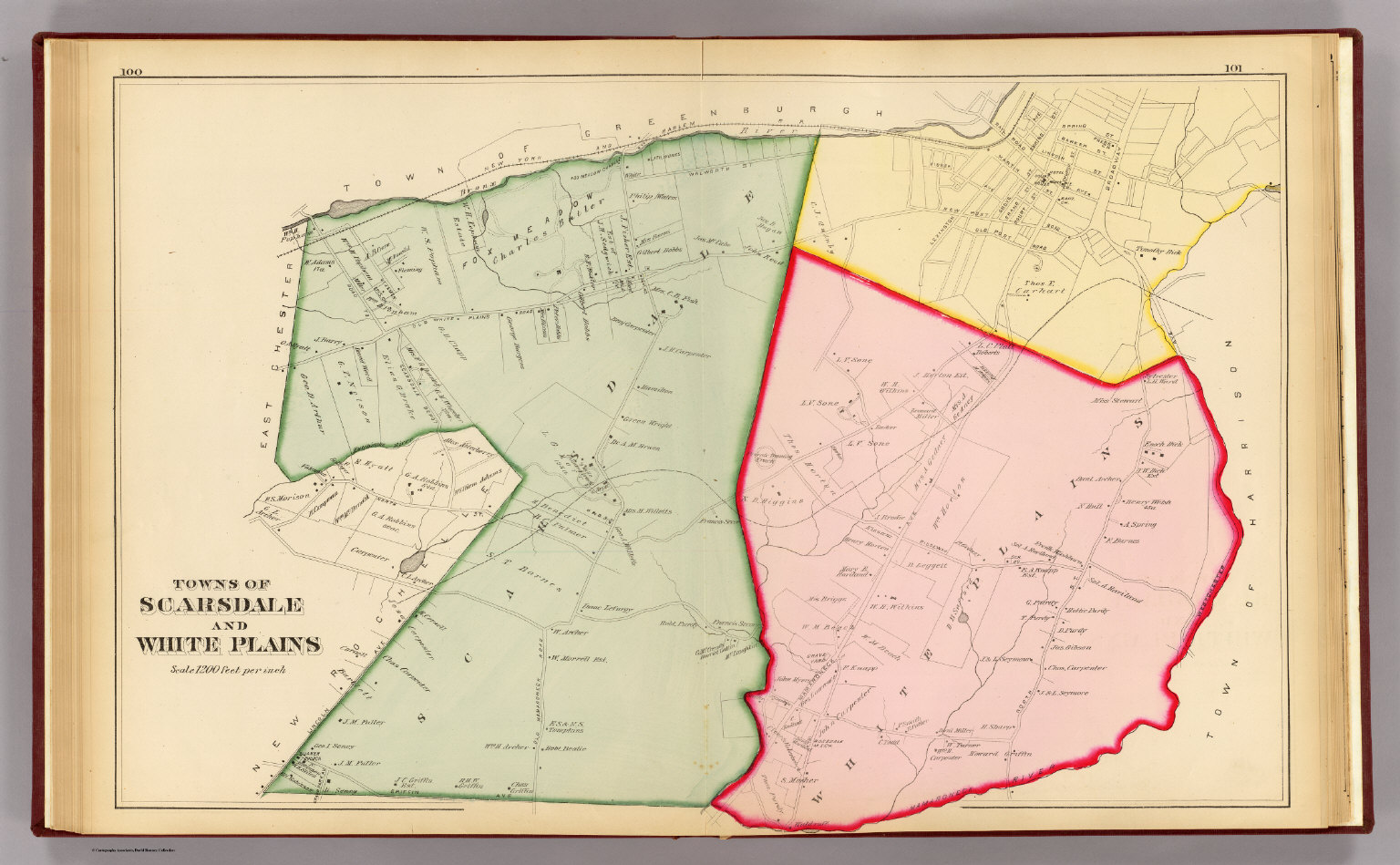 Towns of Scarsdale and White Plains, 1881.