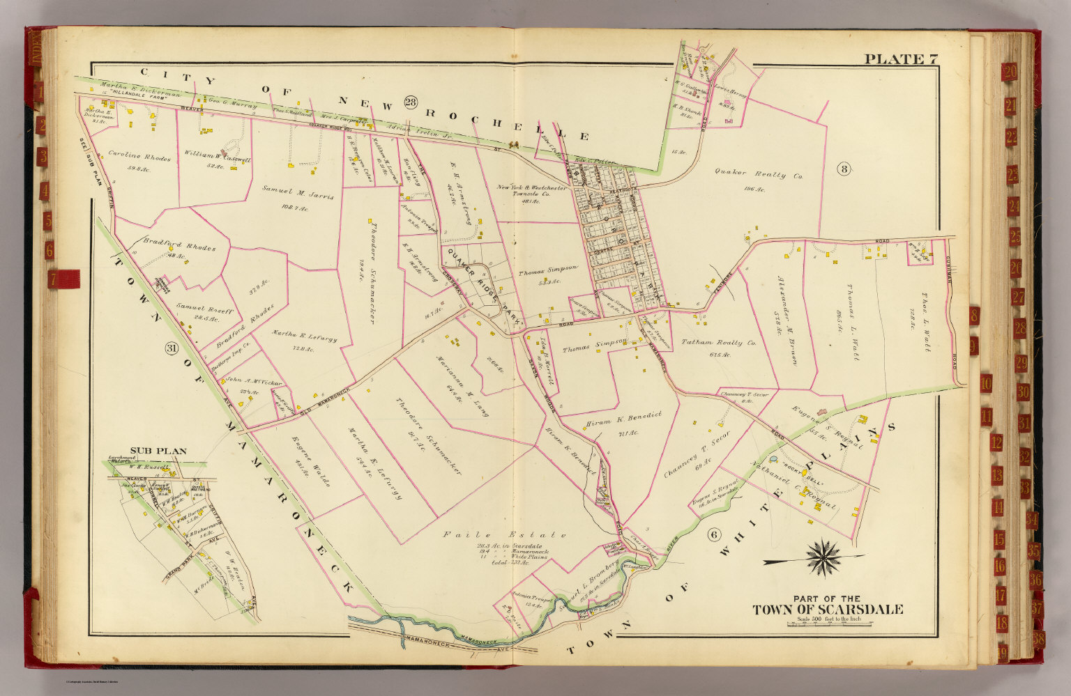 Part of the town of Scarsdale, 1910. See the Rumsey site for other sections.