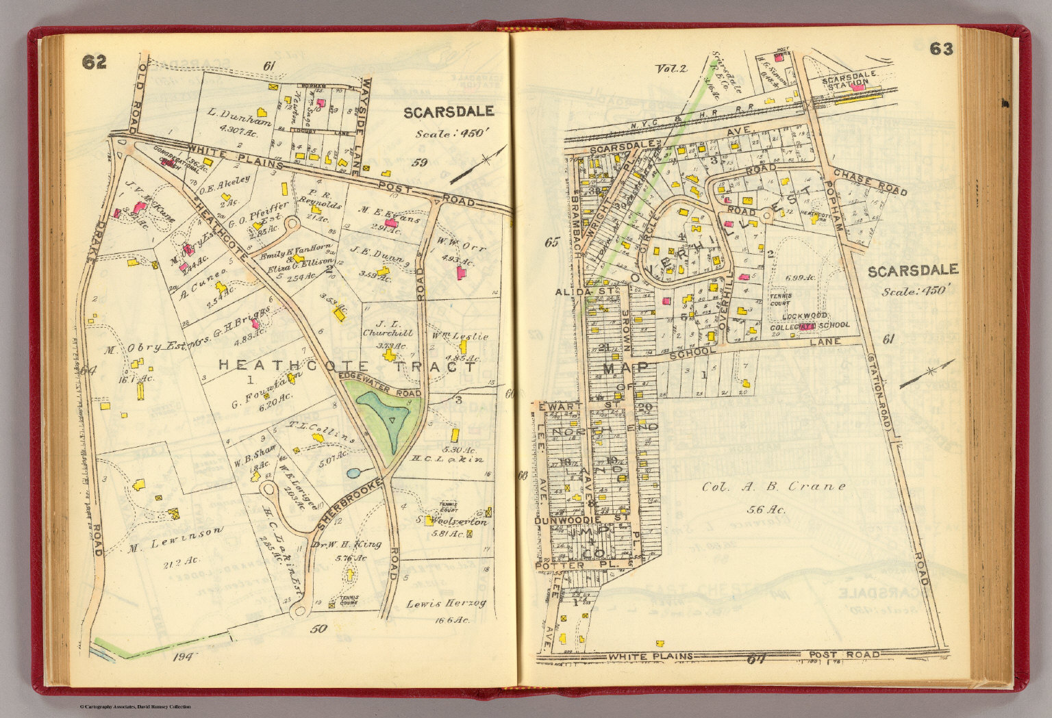 Part of the town of Scarsdale, 1914. See the Rumsey site for other sections.