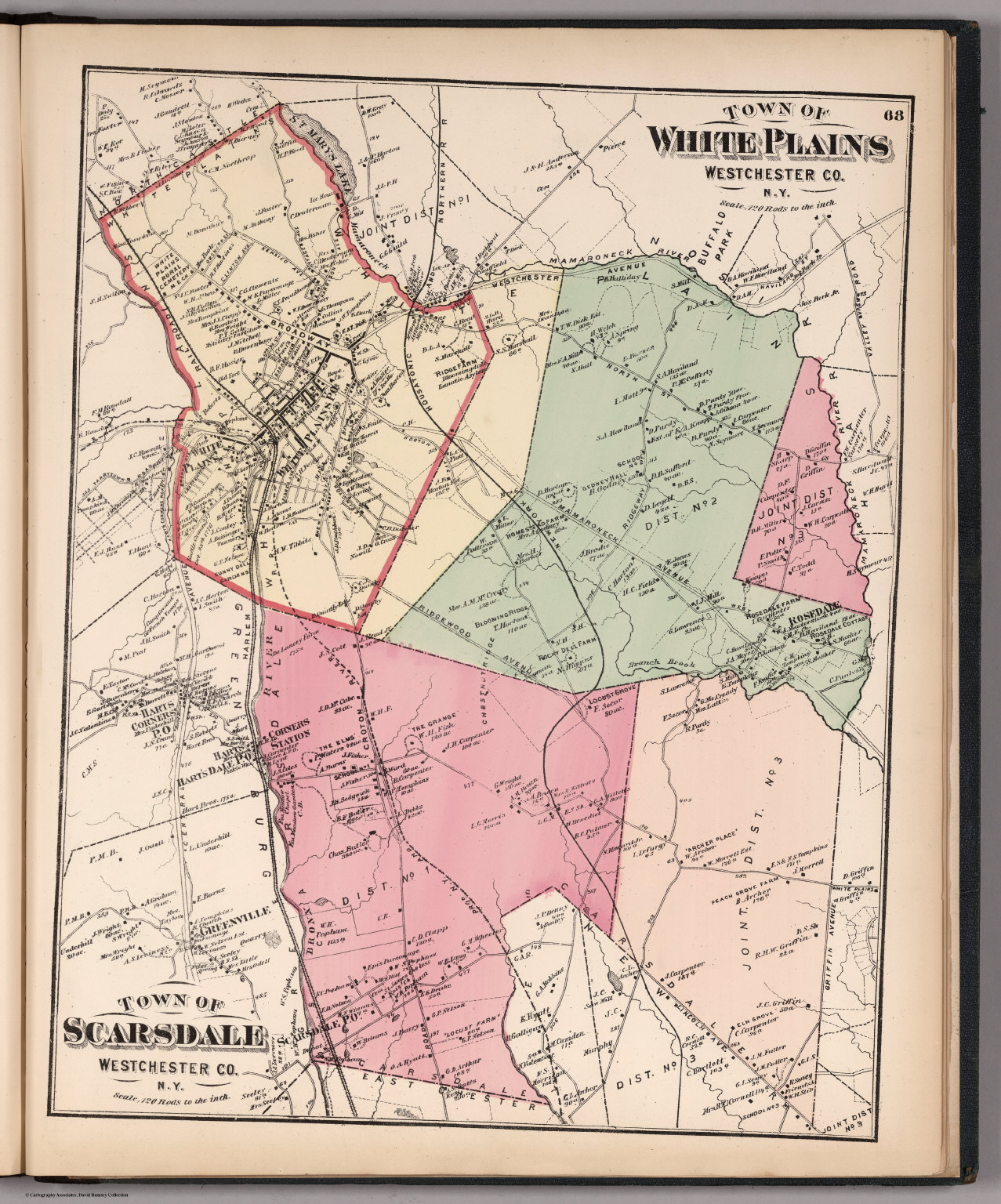 Towns of White Plains and Scarsdale, 1872.