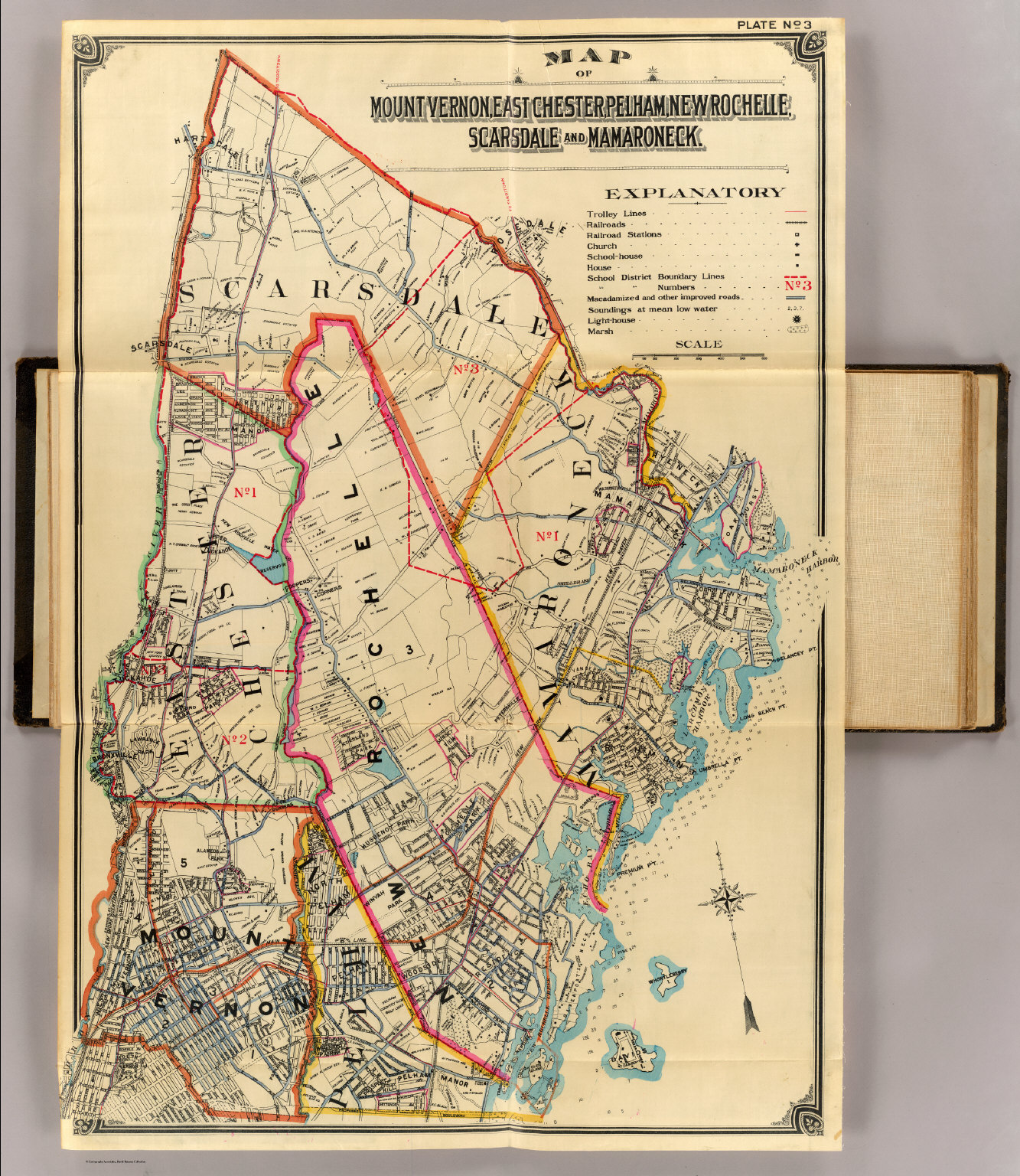 Map of Mount Vernon, East Chester, Pelham, New Rochelle, Scarsdale and Mamaroneck, 1900.