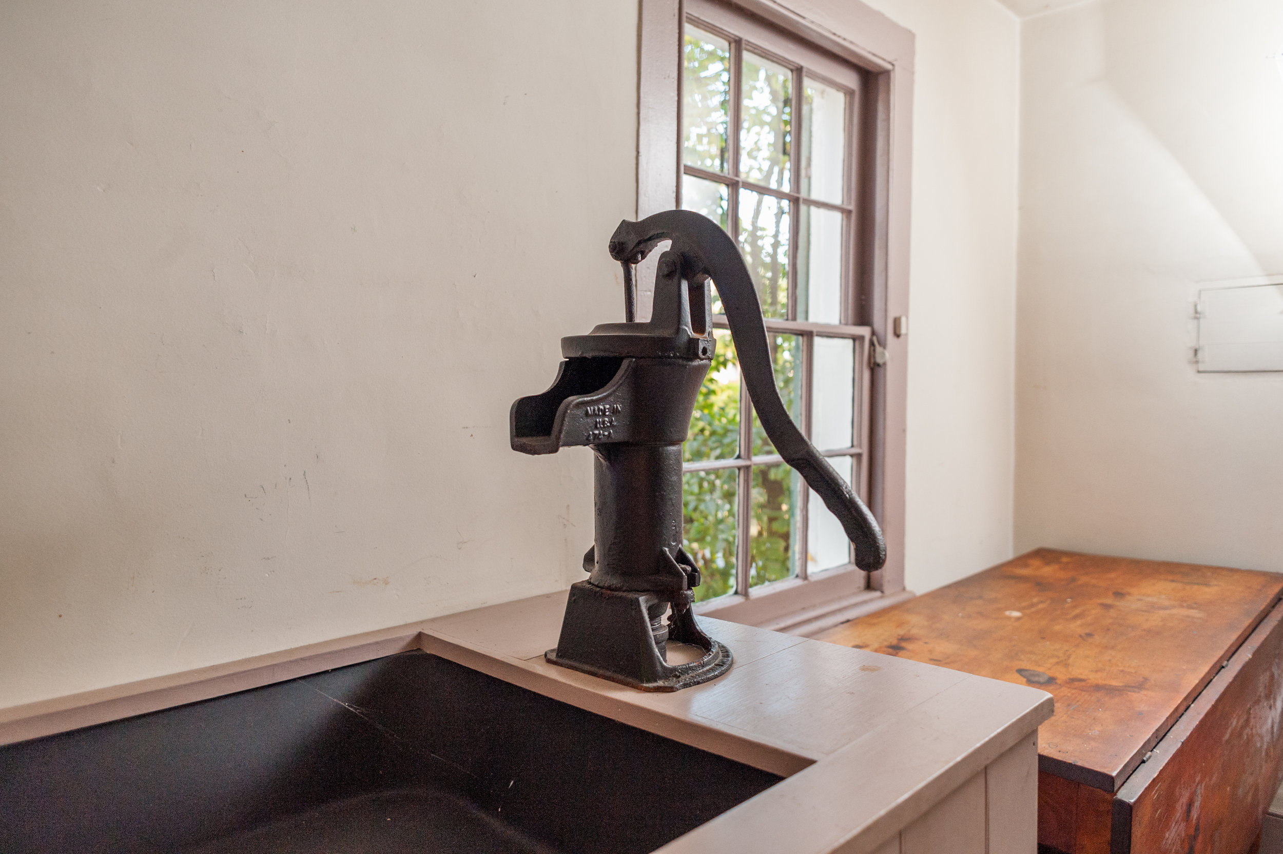 After the well was dug, water could finally be pumped directly into the kitchen instead of being carried from the Bronx River.