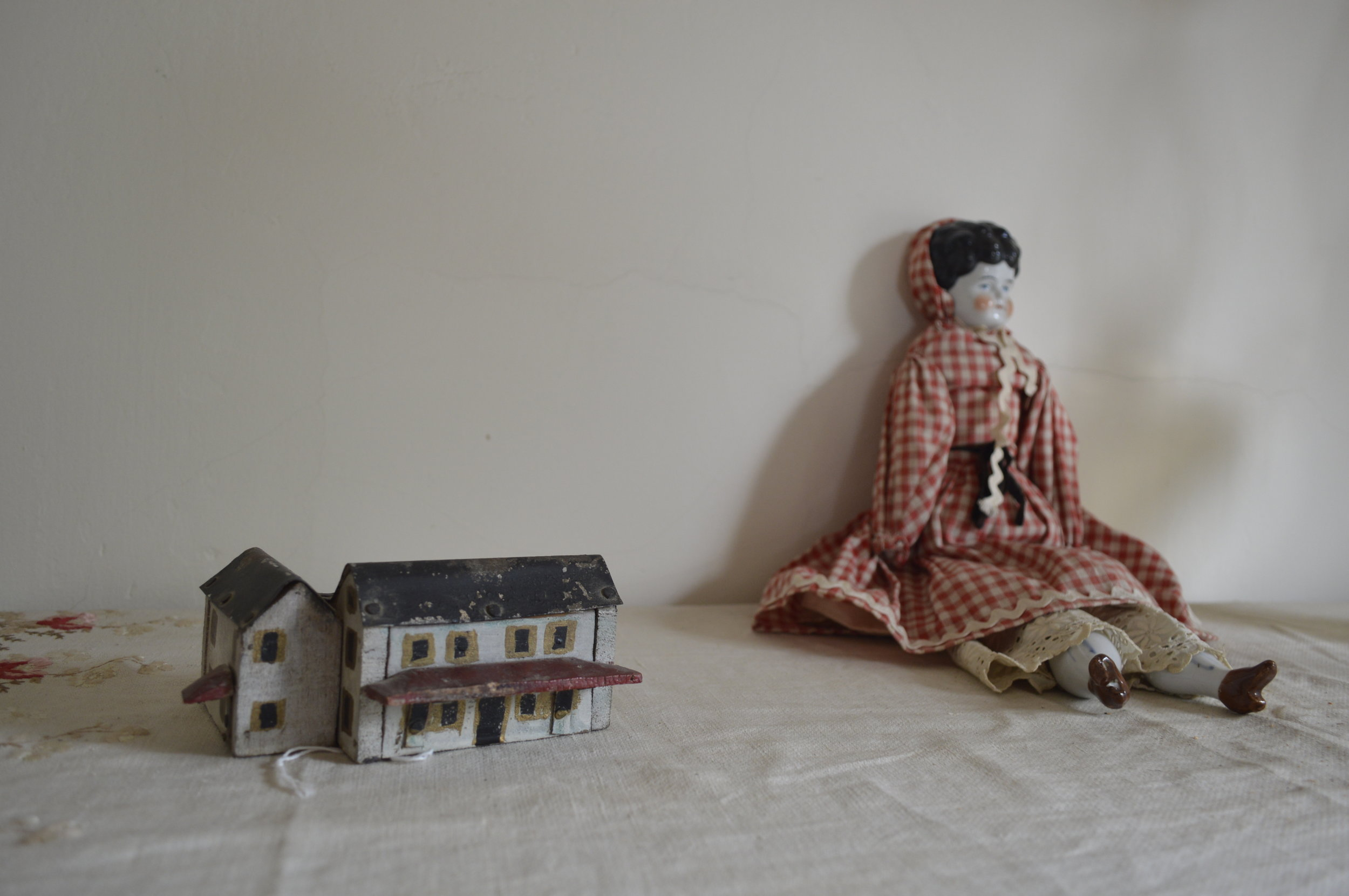 The small model of the house was made by Oliver Hyatt.