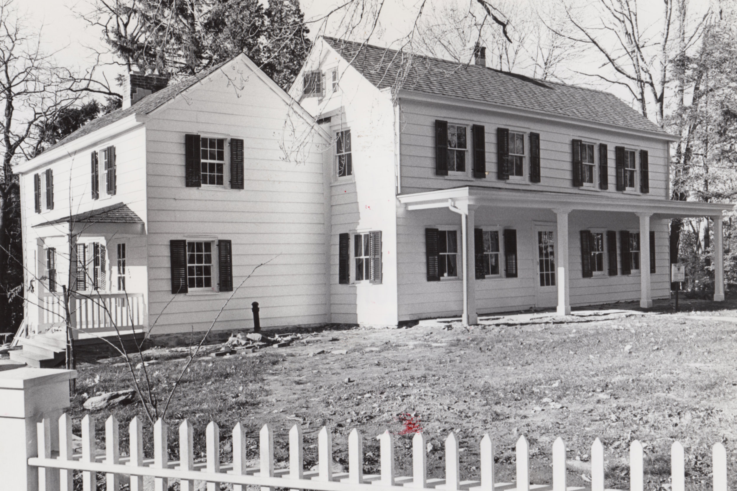 The house in 1977.The exterior restoration was completed in 1980.