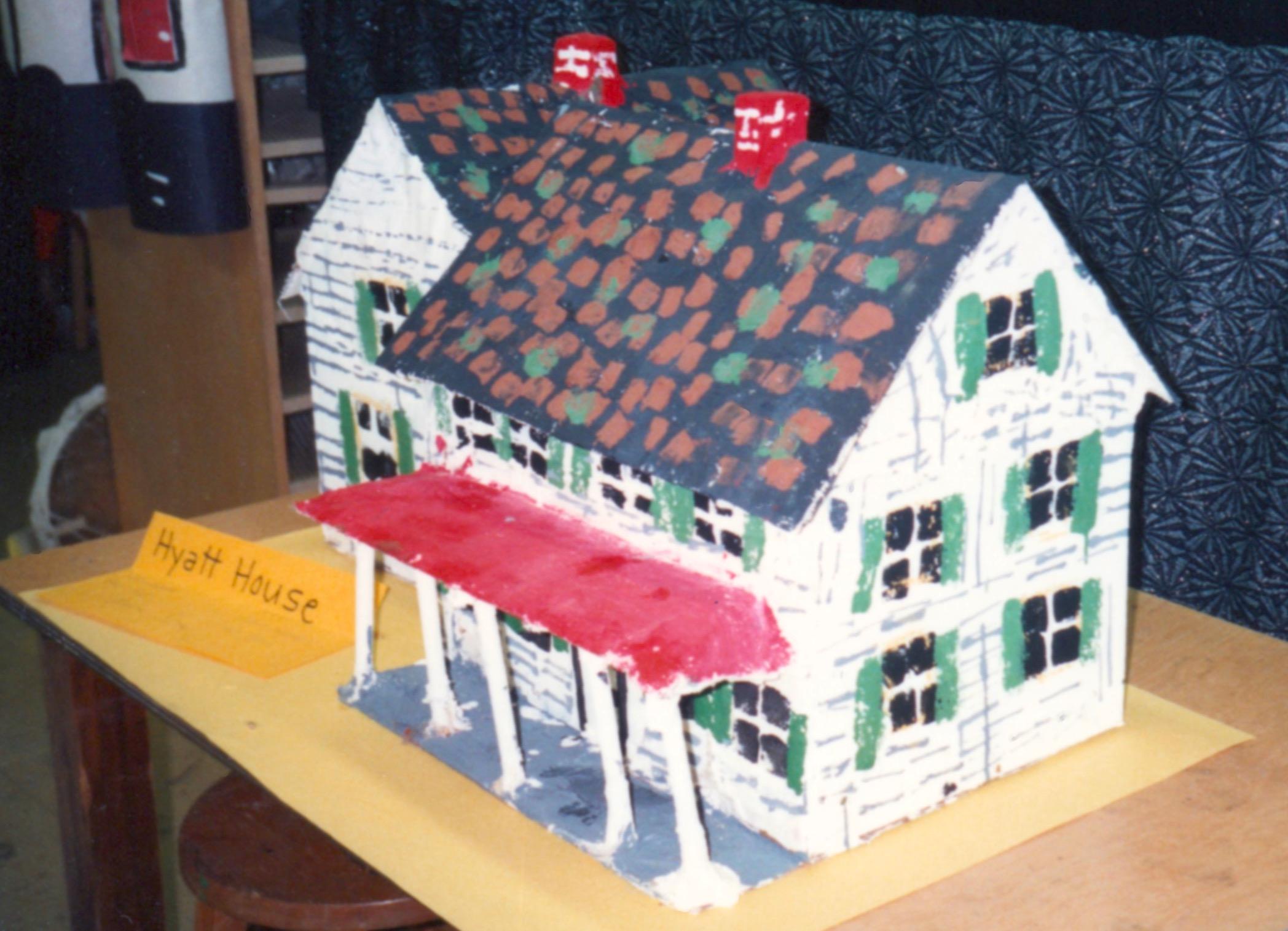 Model of the Cudner-Hyatt House made by schoolchildren.