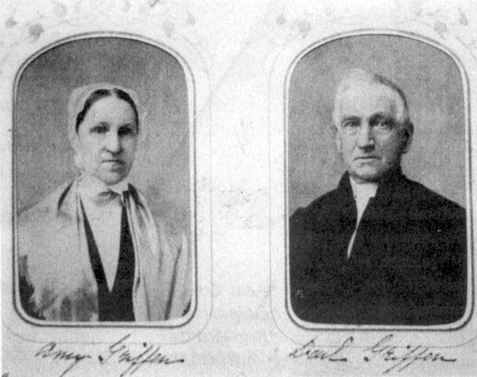 Amy and Paul Griffen of Amawalk meeting, relatives of Scarsdale's Griffens. Photos by Rosch, courtesy of Haviland Record Room
