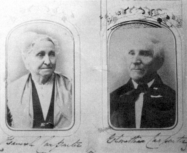 Hannah and Alnathan Carpenter relatives of 19th Century Scarsdale Friend Benedict Carpenter. Photo by Rosch.