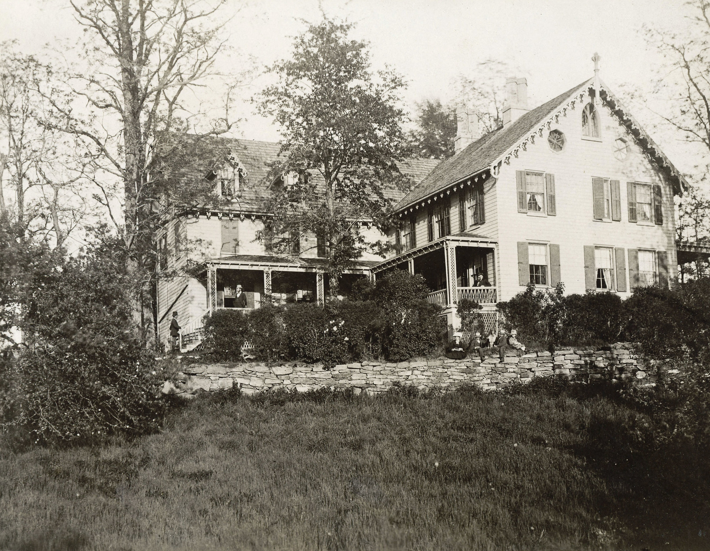 The Fish Family enlarged the Griffin-Fish house and lived there from 1850 to 1920. Photo c. 1872.