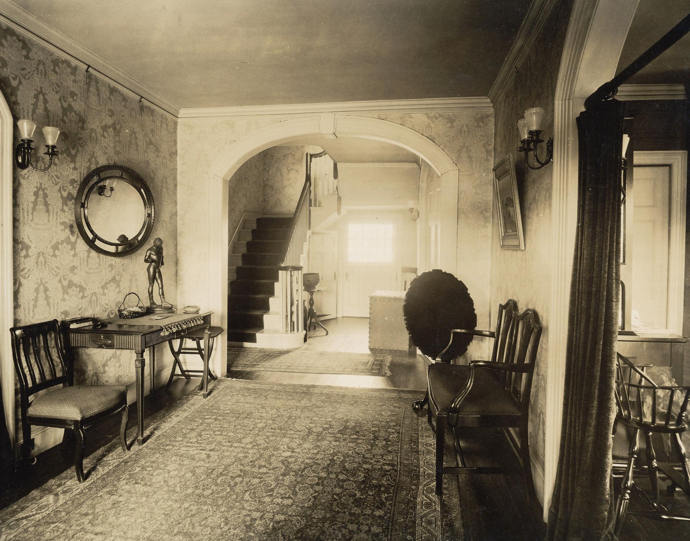 The Locust house interior, c. 1910.