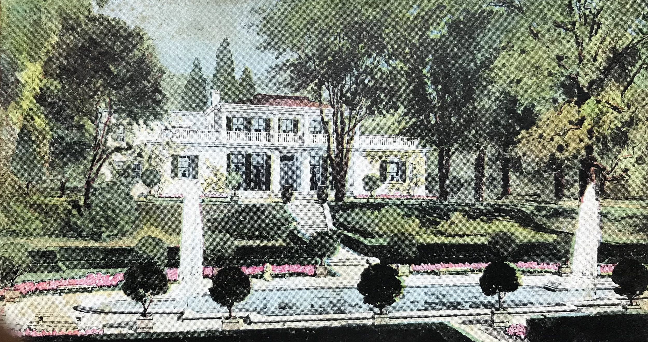 Haubold-Powder Mill House as the Greenacres Tea house, c. 1913.