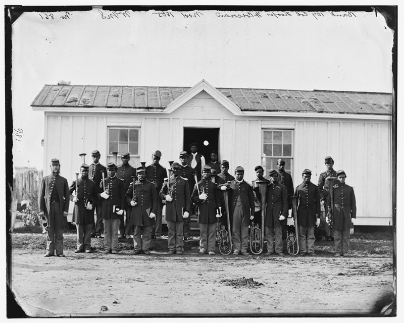 In 1864, the 26th Regiment of the U.S. Colored Troops trained on Rikers Island. They went on to fight, along with 180,000 other black soldiers, for the Union cause.