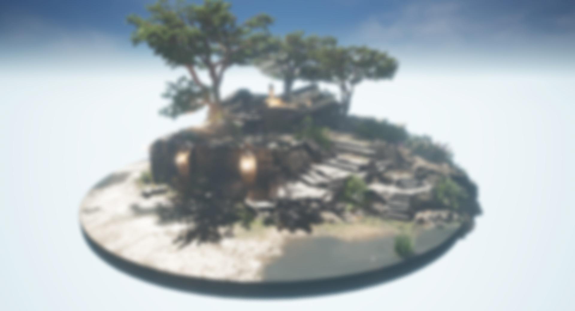Diorama ruins day