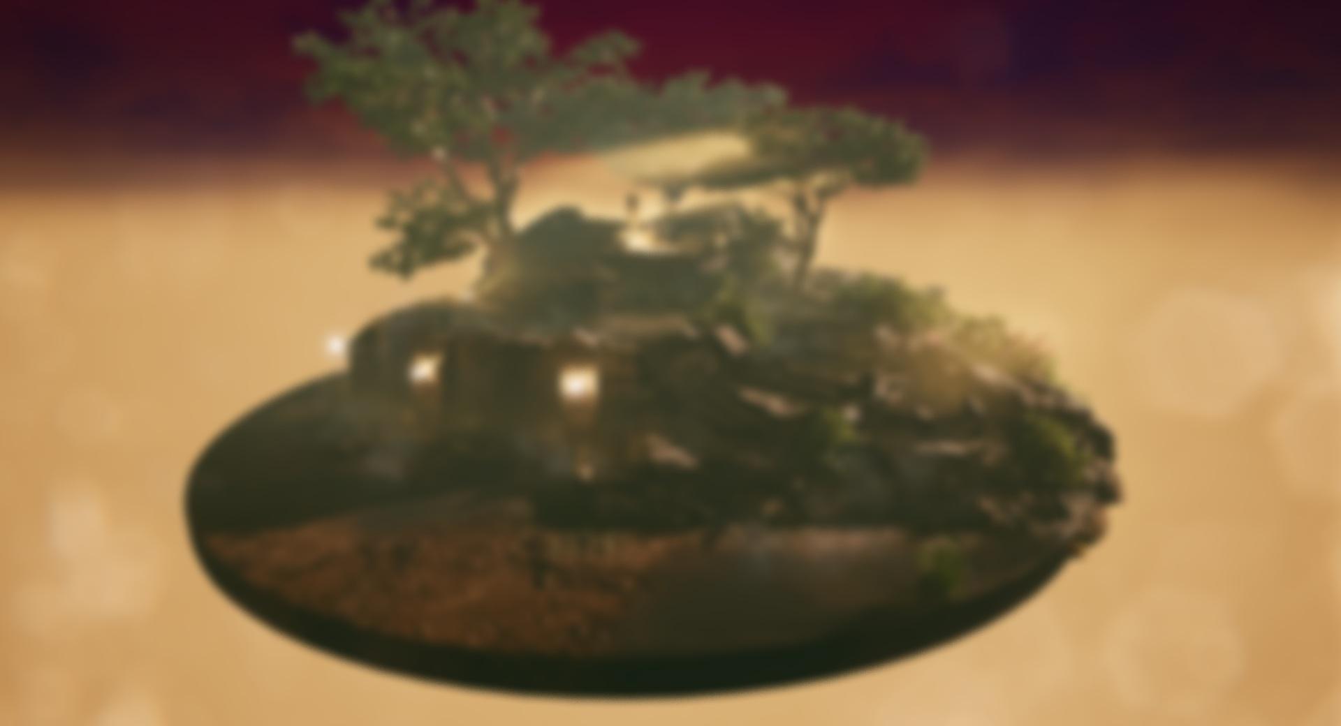 Diorama ruins dusk