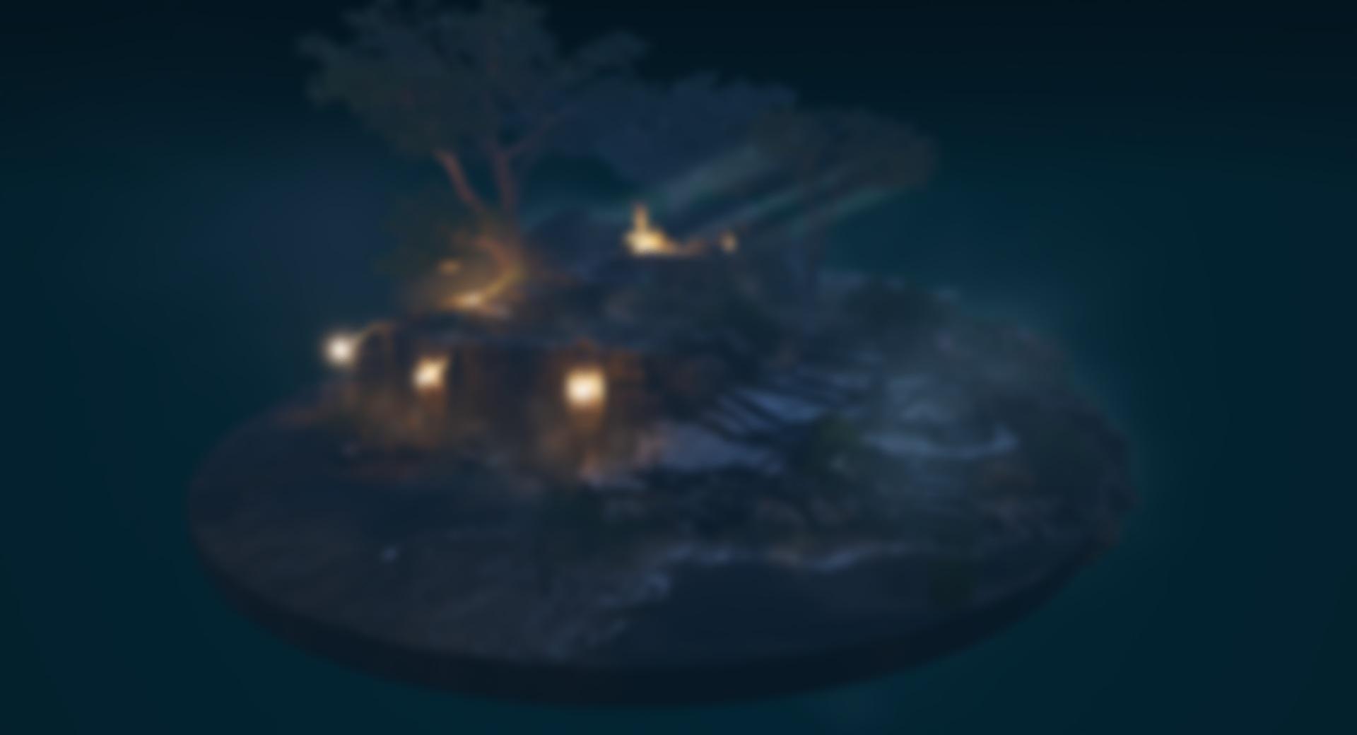 Diorama ruins night