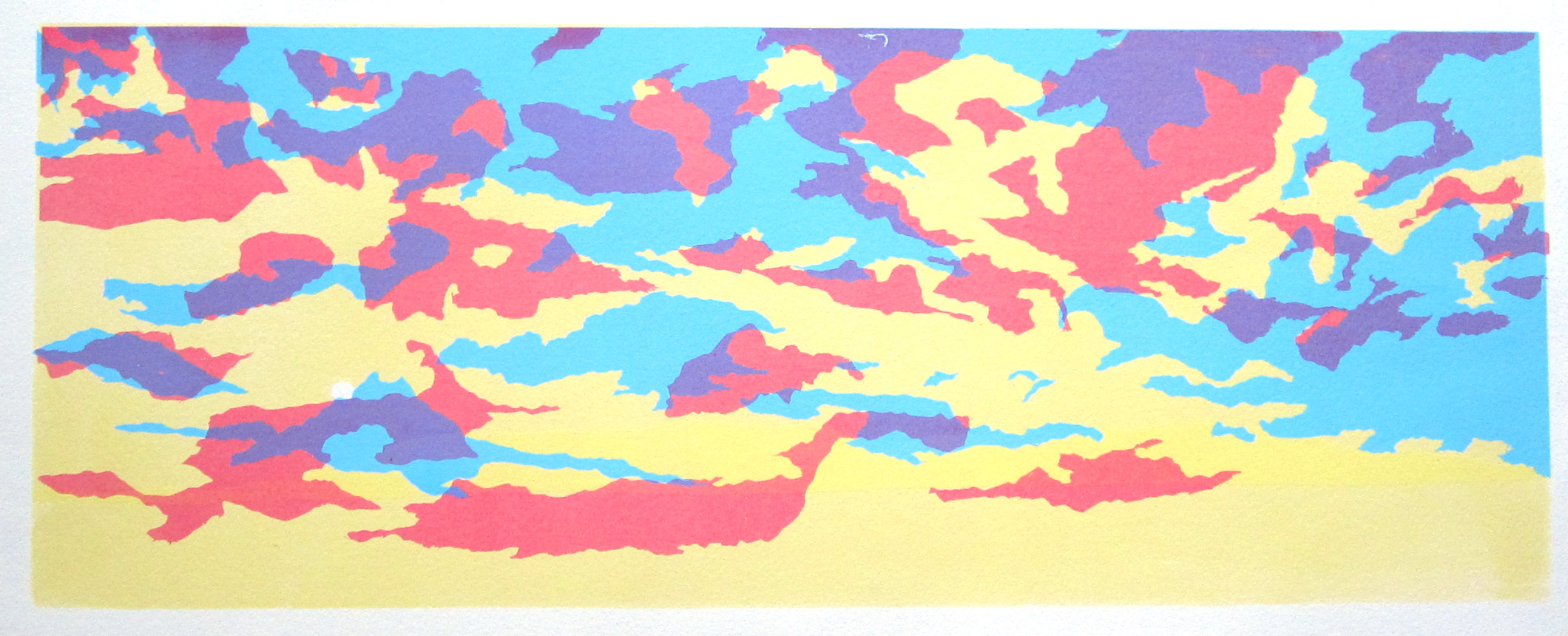 Albuquerque, NM - Never ending sky, 2009  Screen   print