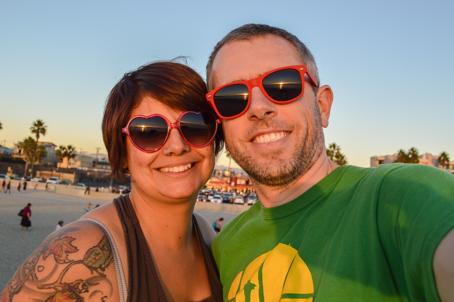 Soaking up the sun on Venice Beach. One of the many beautiful places this crazy journey has already taken us.